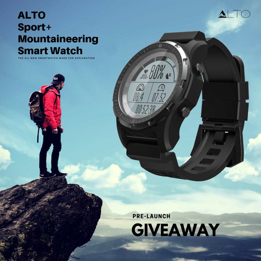 Win a New ALTO Mountaineering/Sports Smartwatch Alto-watch-giveaway-1