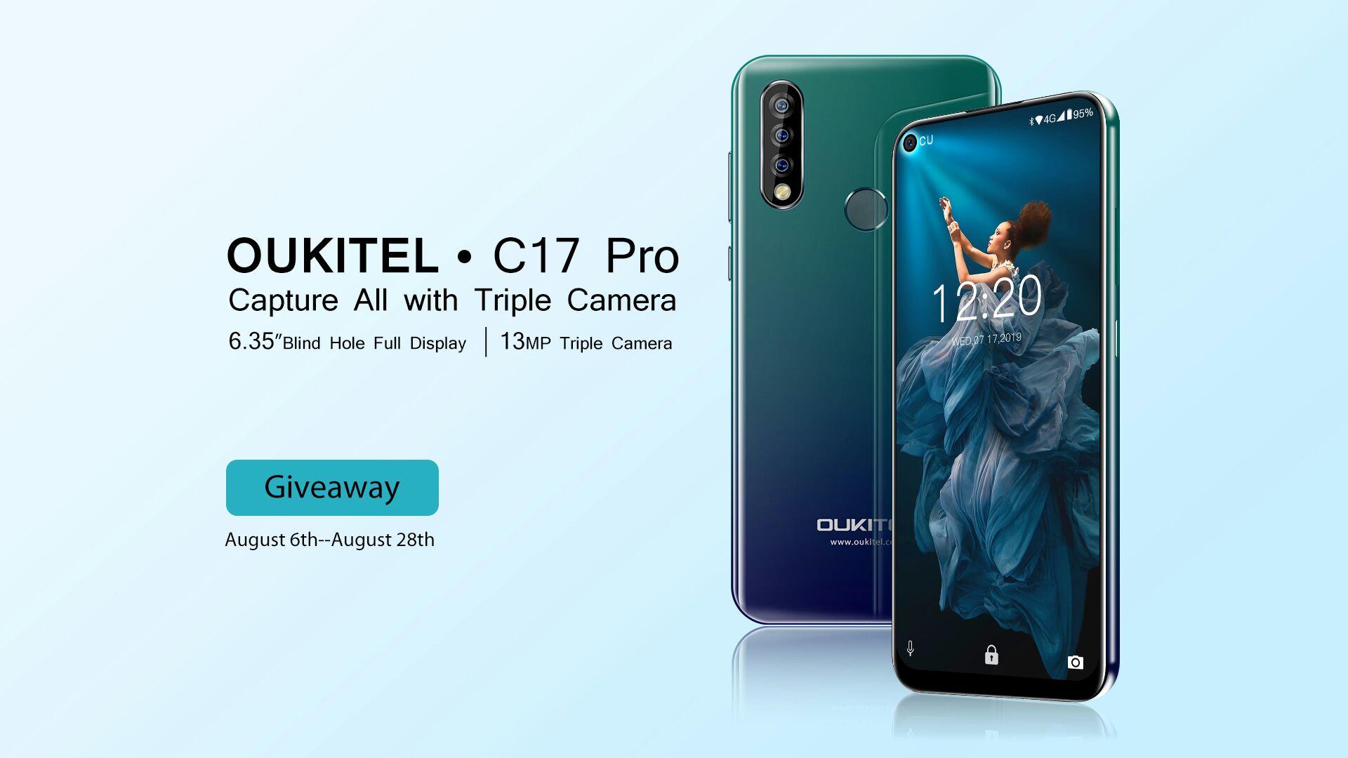 OUKITEL C17 Pro Launch Celebration Giveaway Image