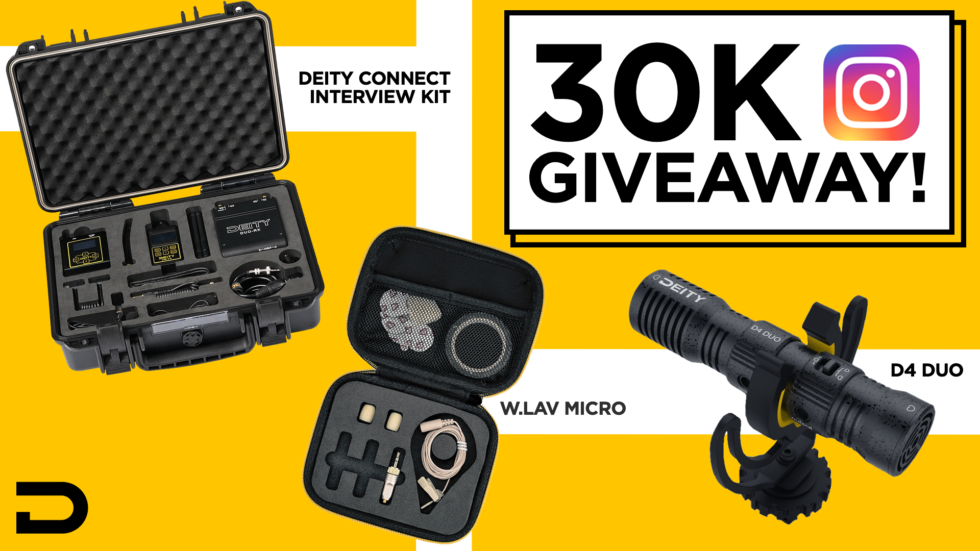 Win 1 of 16 Deity Microphone Prizes (Grand Prize: Deity Connect Kit with a W.Lav Micro DA35 bundle) Giveaway Image
