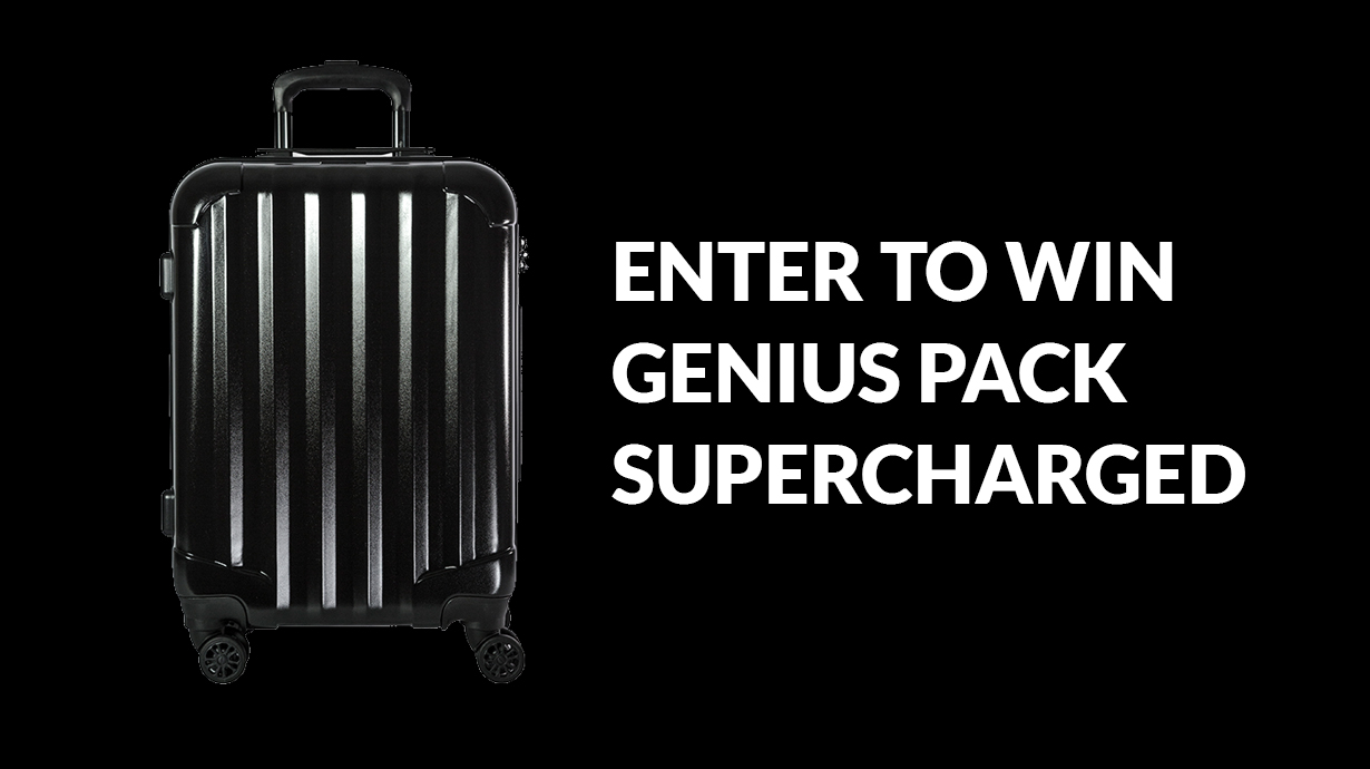 Win 1 of 5 Genius Pack Carry-On Suitcases Giveaway Image