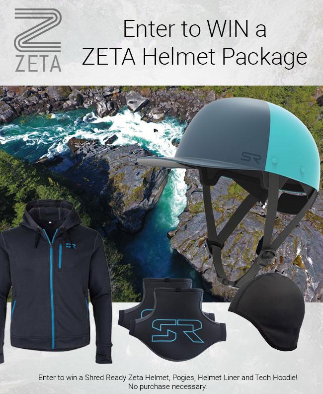 Shred Ready Zeta Helmet, Hoodie, Creek Mitts and Skull Cap Giveaway Giveaway Image