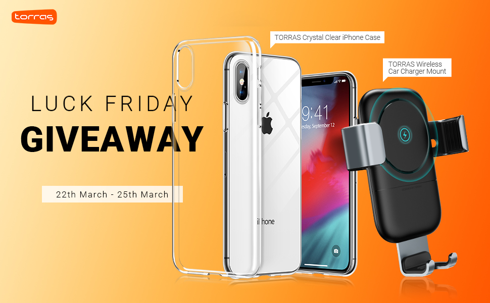 Enter for a chance to win a Wireless Car Phone Charger and TORRAS iPhone Clear Case! 5 Winners ! Giveaway Image