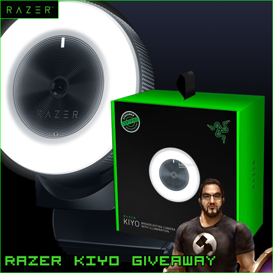 Enter for a chance to win a Razer Kiyo Webcam. Valued at $100!  See Rules for exceptions Giveaway Image