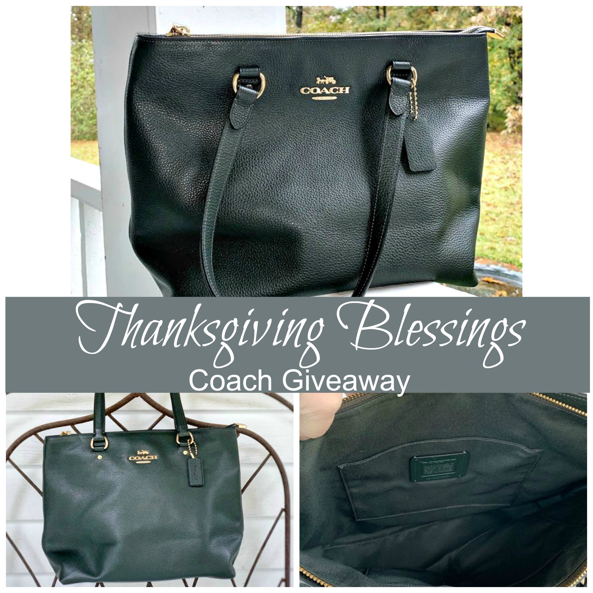Thanksgiving Blessings Coach Bag Giveaway