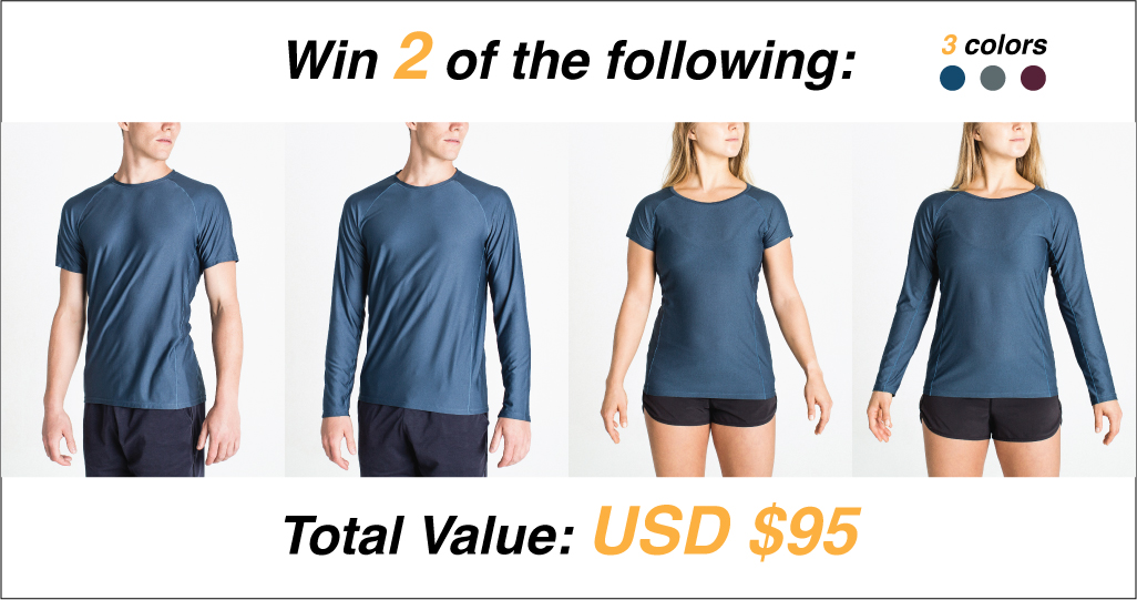 Technical Sport Shirts - Win 2 High-Performance, lightweight technical Shirts Giveaway Image
