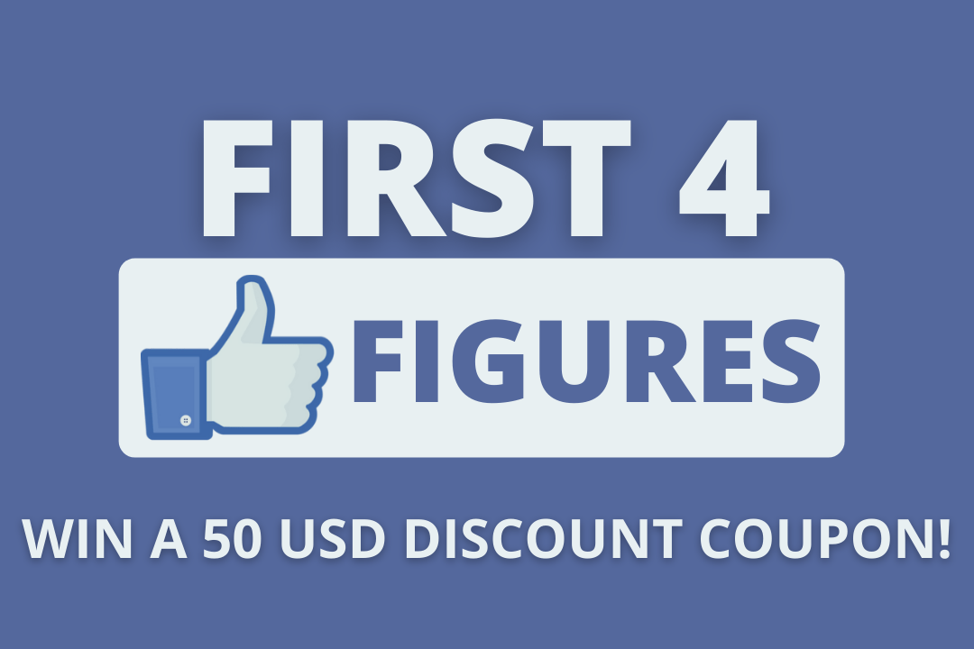 Enter to win a $50 Discount Coupon to be used on your next order at First 4 Figures. The coupon does not expire. Giveaway Image