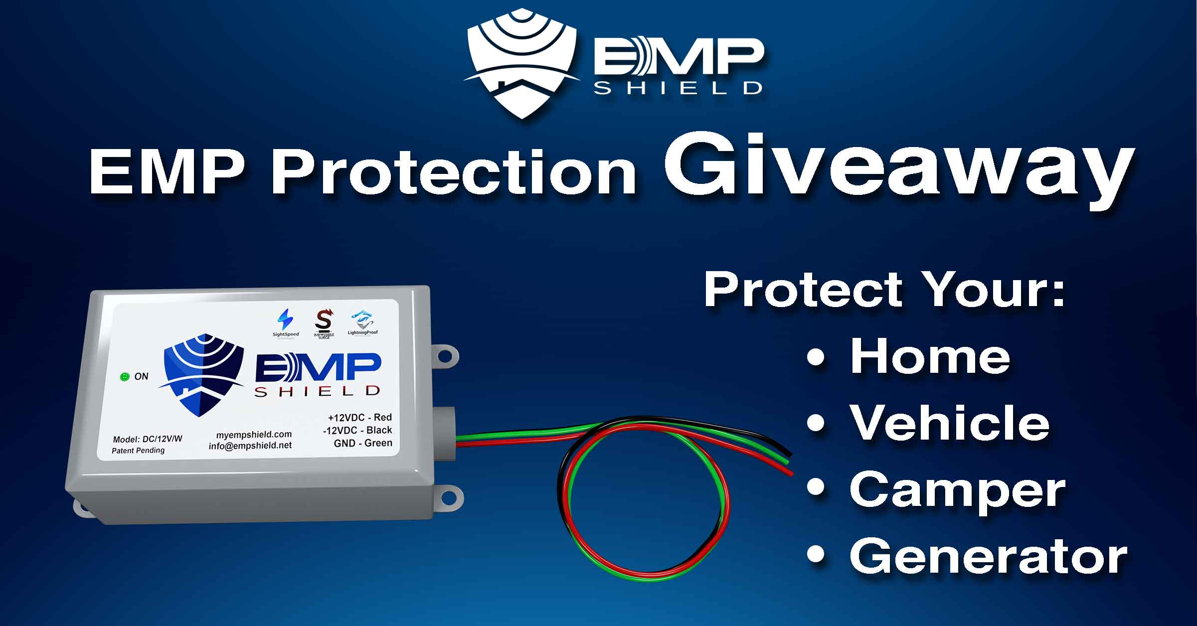 Homegrown EMP Shield Giveaway ~ The Shield is designed to protect an entire home from lightning, solar flare (coronal mass ejection), power surges, and an electromagnetic pulse. Retails at $359. Giveaway Image