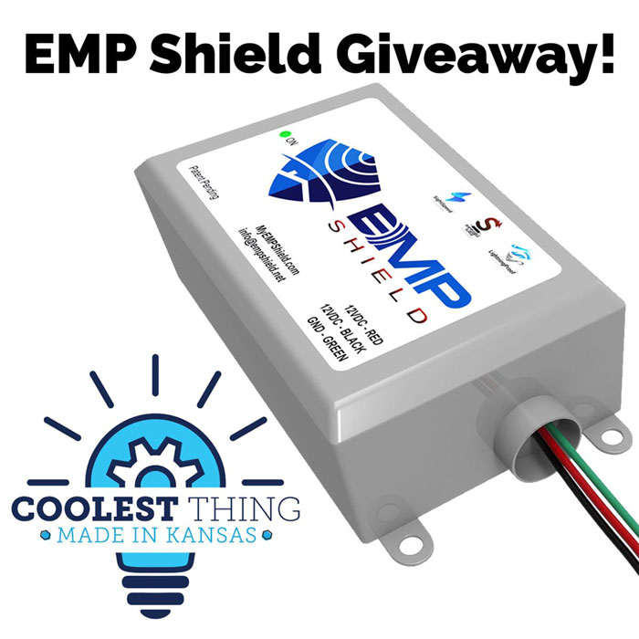 Enter to win an EMP Shield that is designed to protect an entire home from lightning, solar flare, power surges, and an electromagnetic pulse. Retails at $399 each. 3 Winners! Giveaway Image