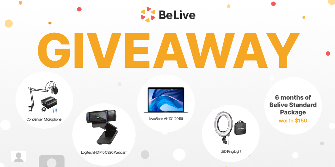 Win a BeLive Studio2 Live Streaming Bundle including a Macbook Air & More Giveaway Image