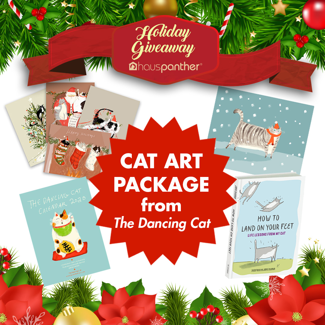 Enter to win a Cat Art Prize Package from The Dancing Cat! Giveaway Image