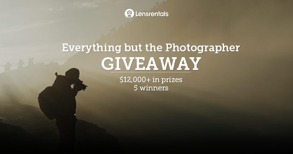 Win Choice of Camera, Lens and more, multiple winners Giveaway Image