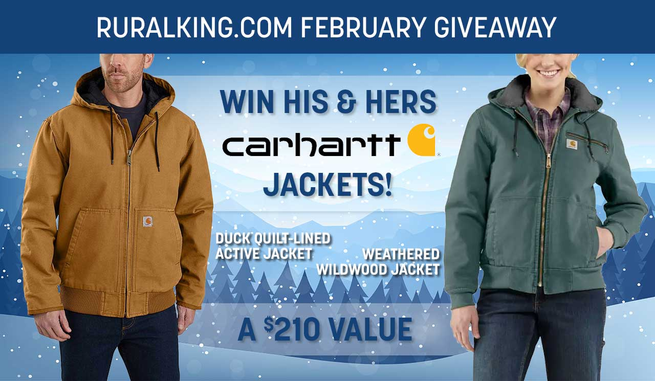 Win his and hers Carhartt Jackets Giveaway Image