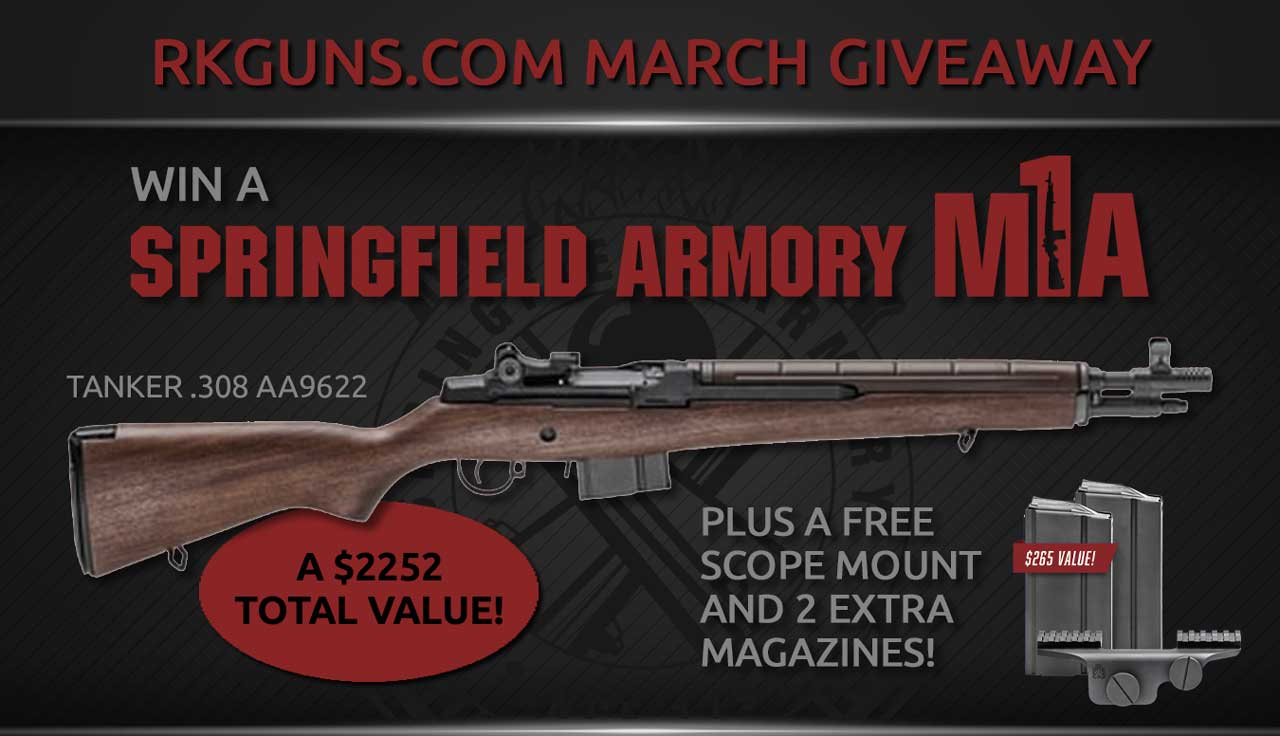 Win a Springfield M1A .308 Rifle, extra magazines, and a scope! Giveaway Image