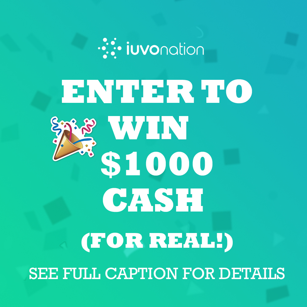 Win $1000 with IUVOnation Giveaway Image