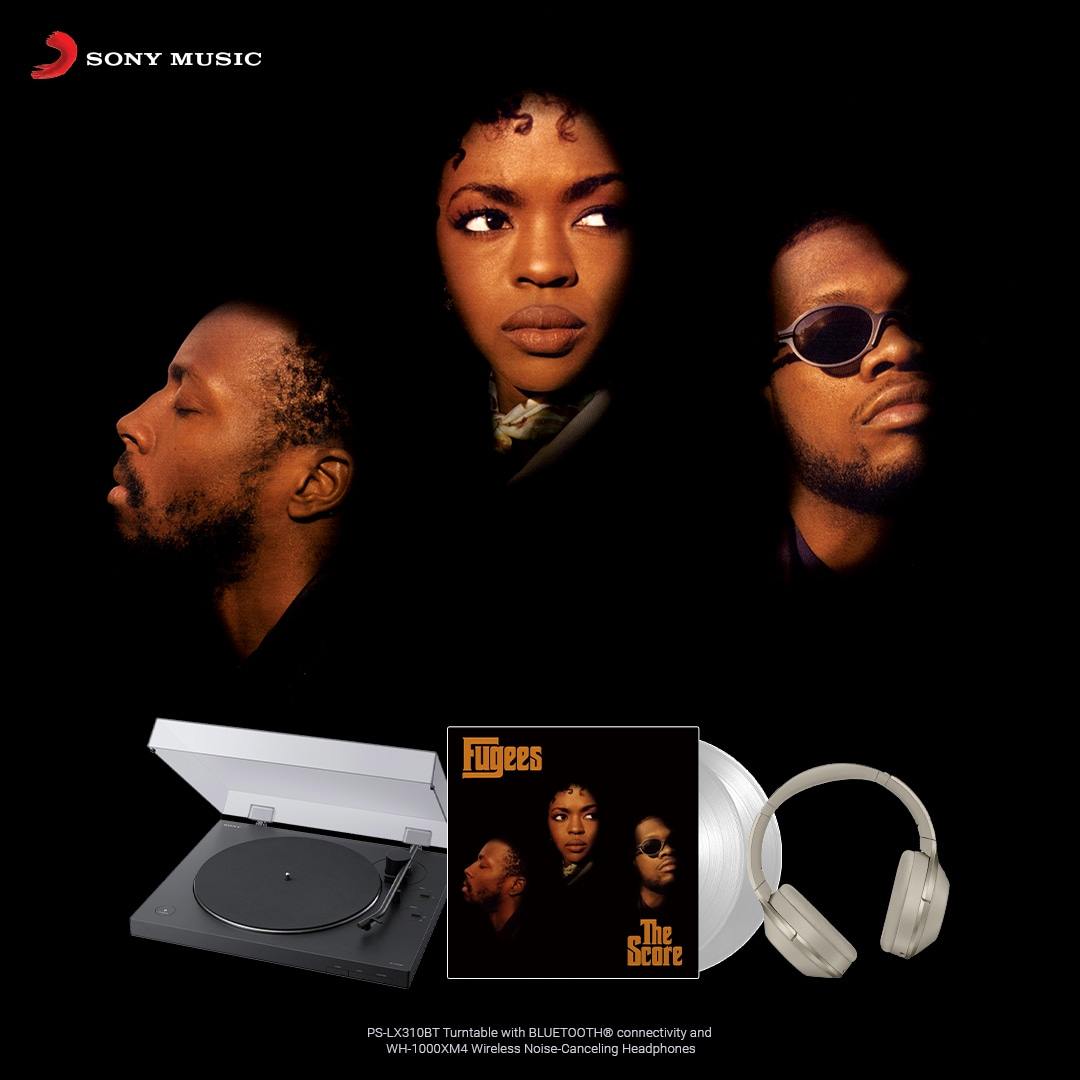 online contests, sweepstakes and giveaways - Fugees The Score Vinyl + Turntable & Headphones Prize Pack