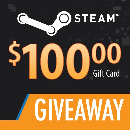 $100 Steam Gift Card Giveaway  5/08/2021 Giveaway Image