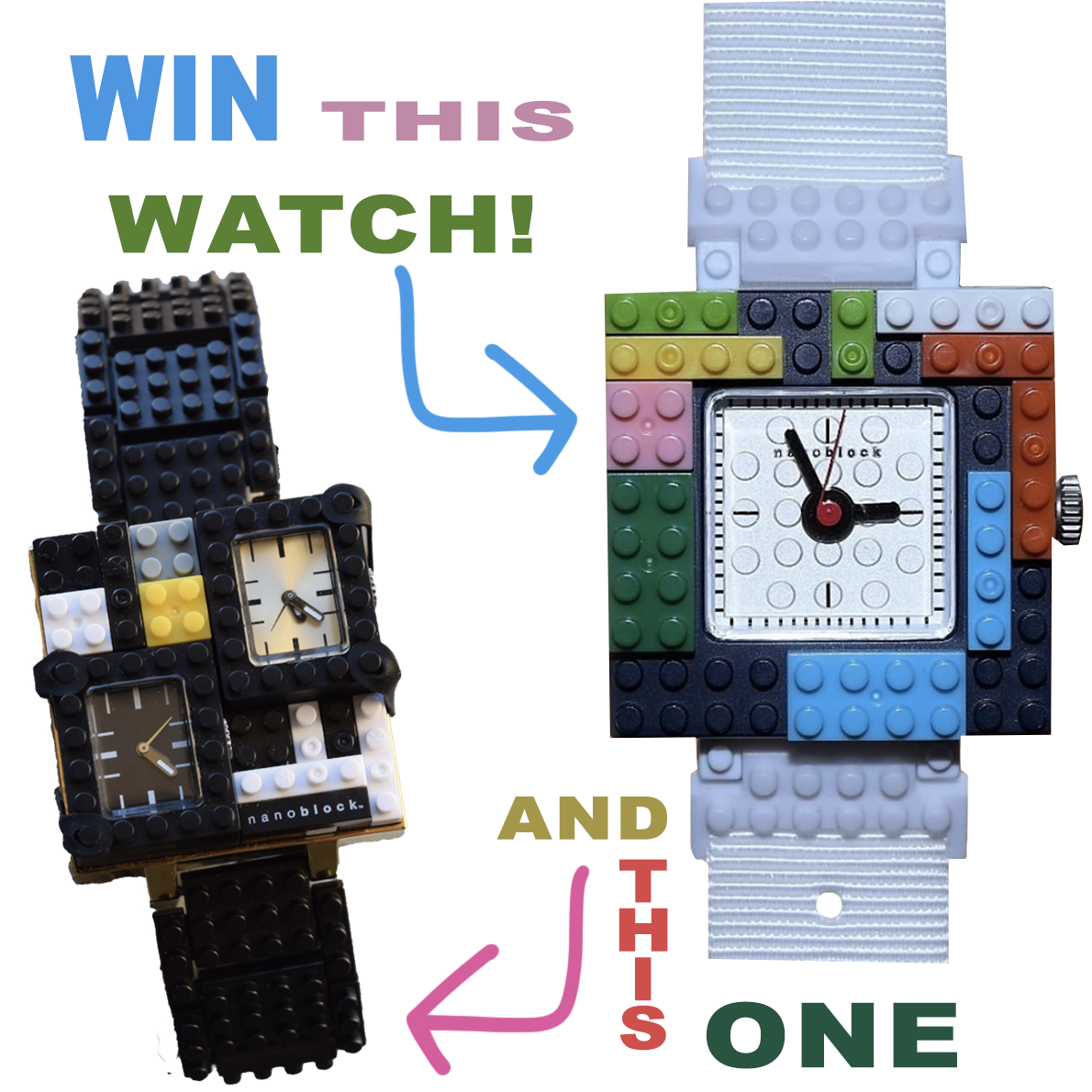 Enter to Win a NanoBlockTime Watch Giveaway Image