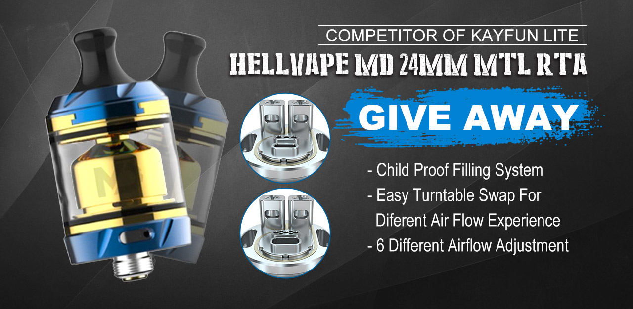 Hellvape 24mm Tank Atomizer Giveaway Image