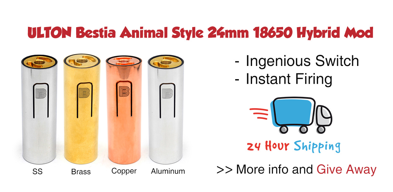ULTON Bestia Animal Style Mod 18650/ 24mm Giveaway Image