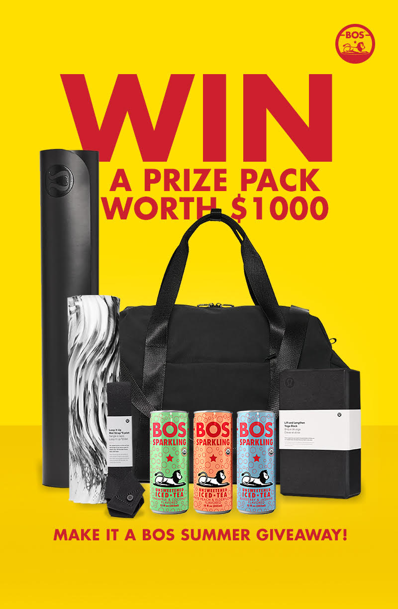 Win Lululemon yoga bag, mat, block, strap & roller ($400 value)? and other awesome prizes!! Giveaway Image