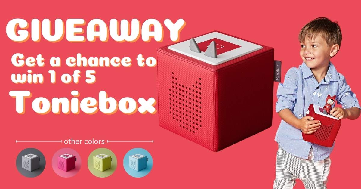 Enter tow win the Toniebox: a new audio system designed for children. Turn it on, pop a Tonie on top and let the audio adventure begin. 5 Winners! Giveaway Image