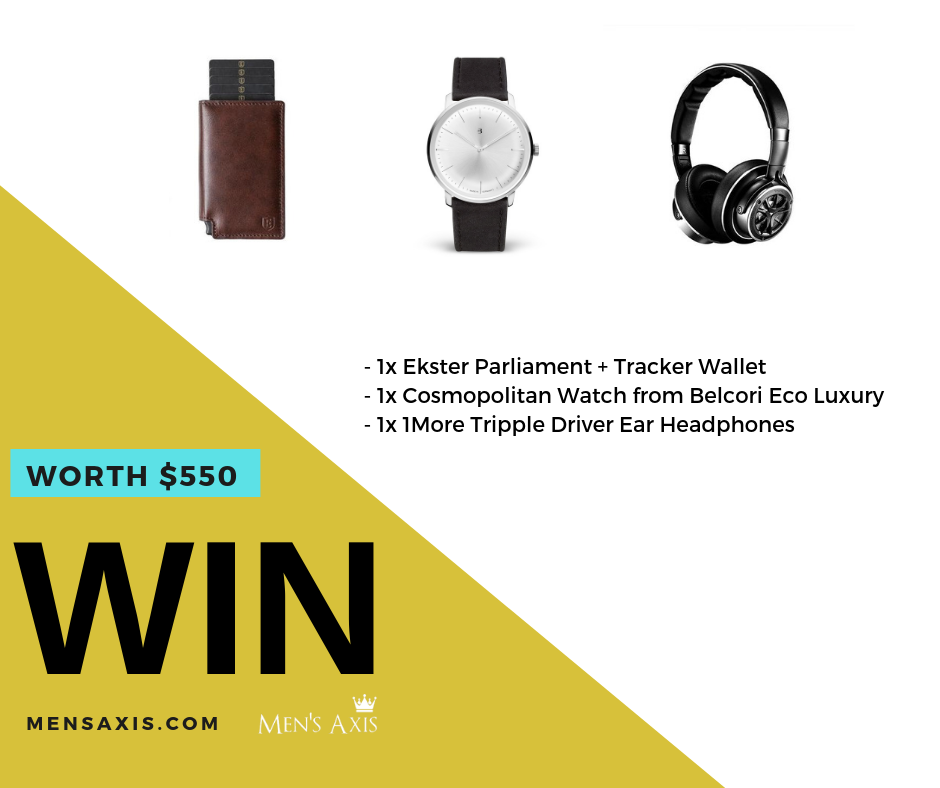 Win $550 Modern Man Lifestyle prize packs! Giveaway Image
