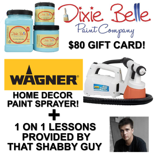 Enter for a chance to win an $80 Dixie Belle Paint Company Gift Card, a Wagner Home Decor Paint Sprayer and more Giveaway Image