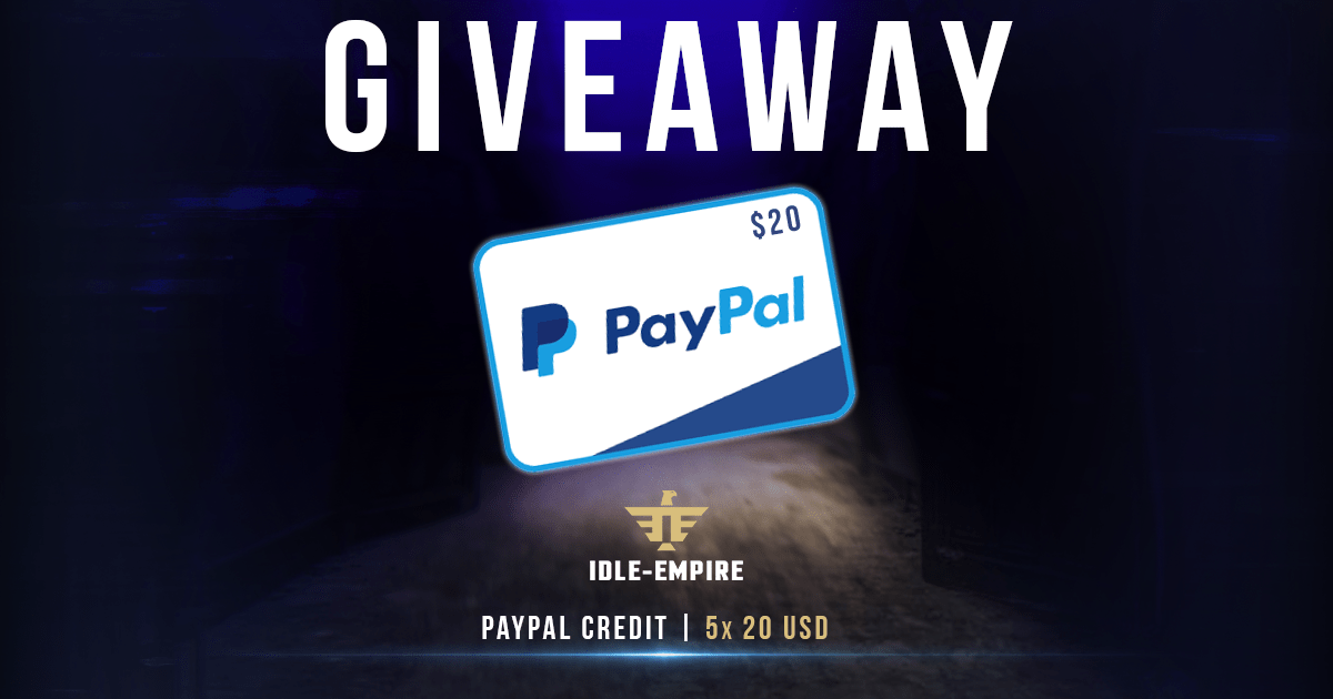 5x $20 PayPal Cash Giveaway Image