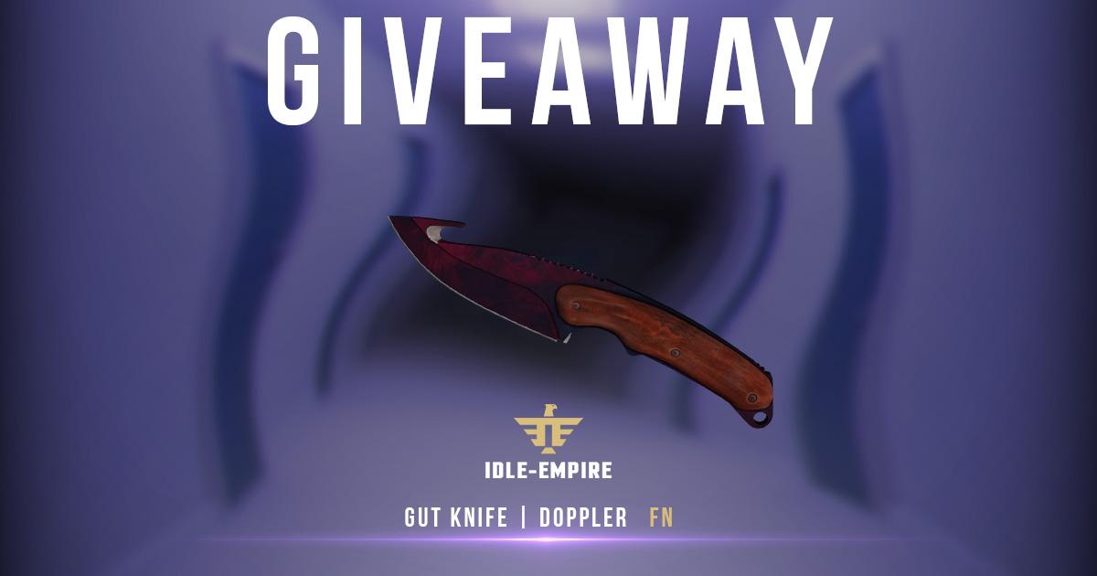 Gut Knife | Doppler (Factory New) Giveaway Giveaway Image
