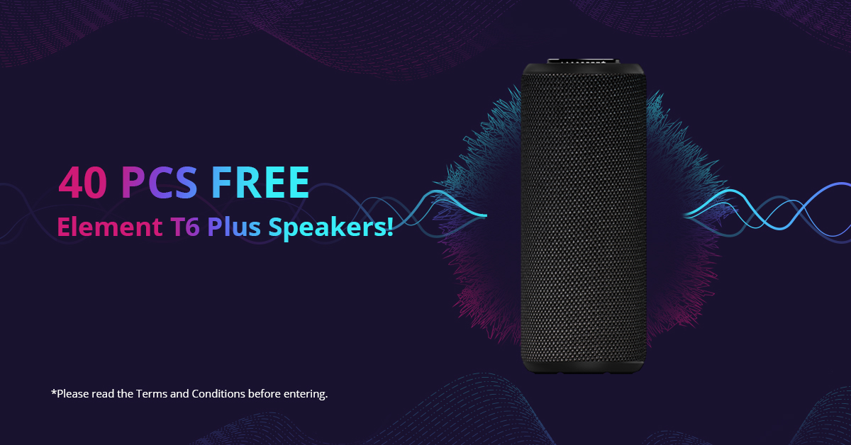Enter to Win 1 of 40 Tronsmart Element T6 Plus 40W Bluetooth Speakers  (Ends on 04/23/2019) Giveaway Image