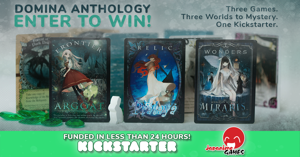5 winners! Win one board game from The Domina Anthology or the full set of three games Giveaway Image