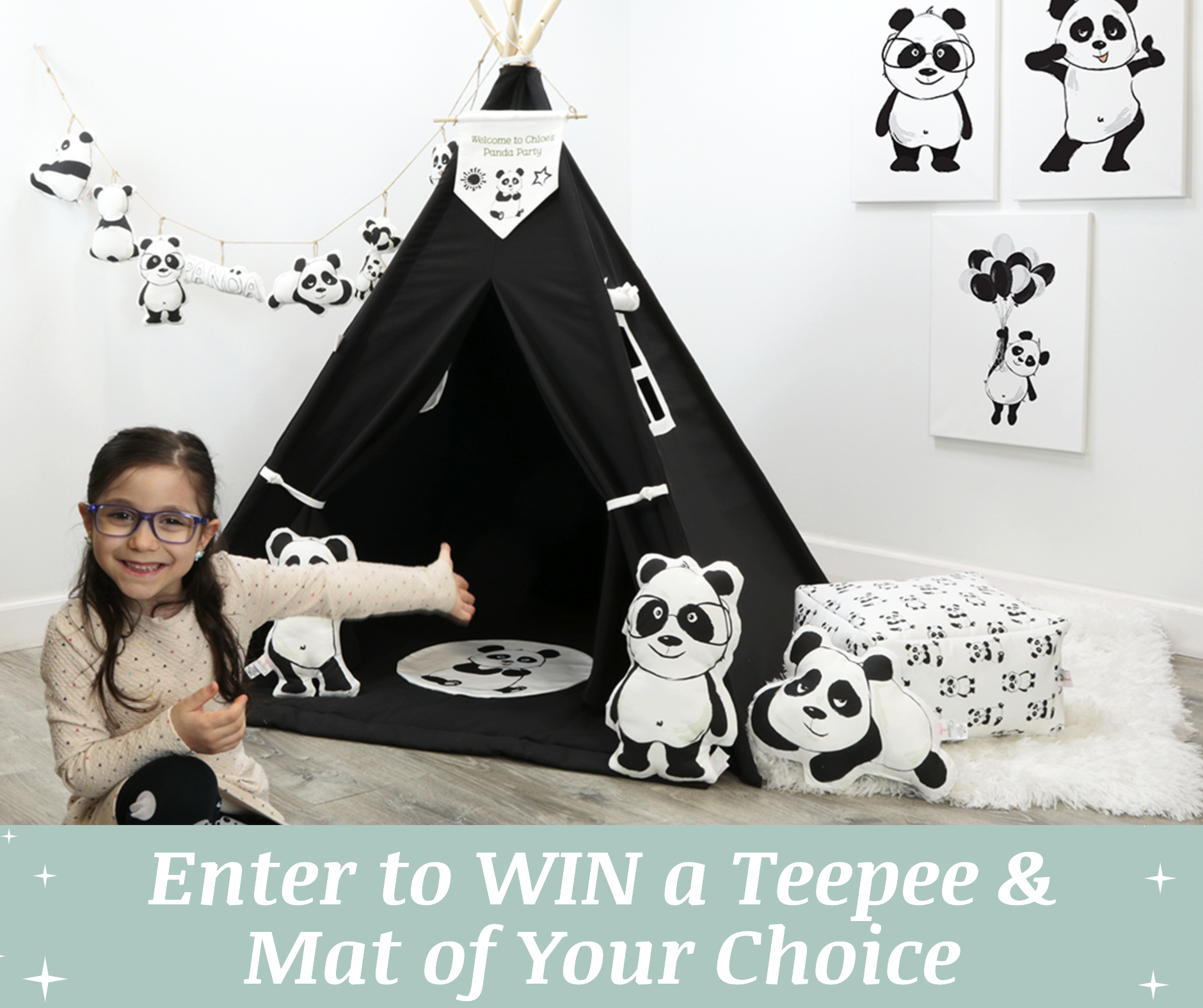 Enter for a chance to win a Teepee and Mat of your choice! Valued at $238! Giveaway Image