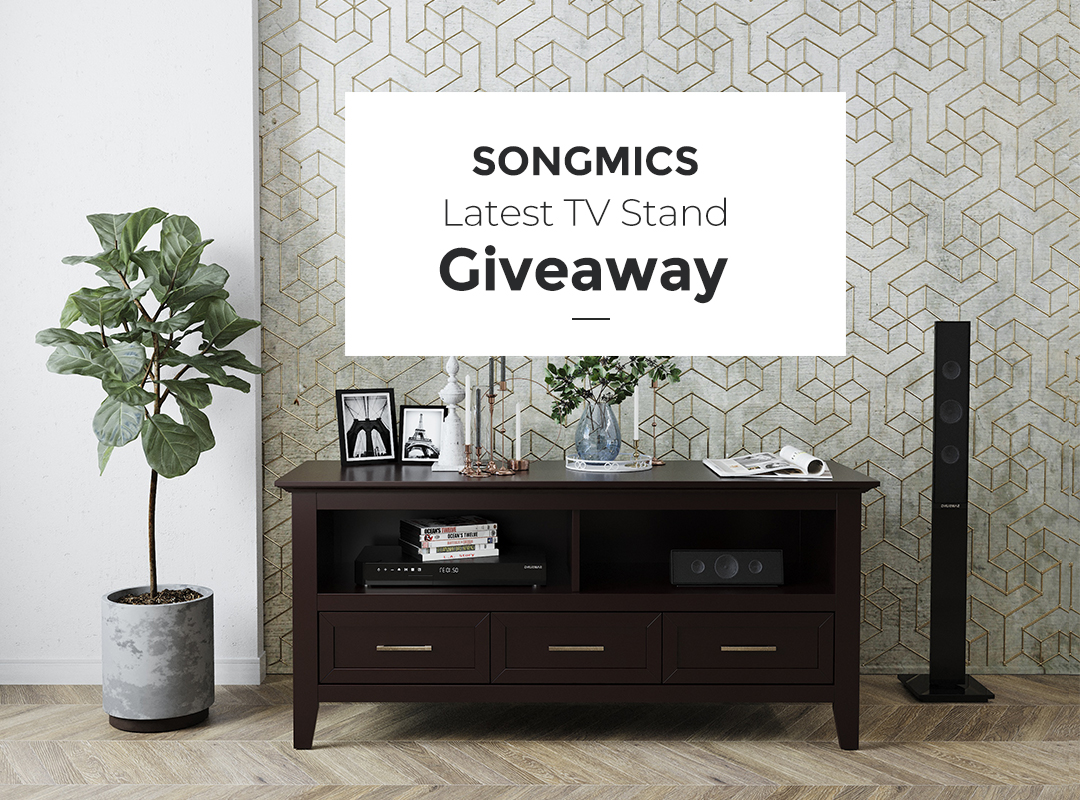 Win a TV Stand from SONGMICS, 2 winners! Giveaway Image