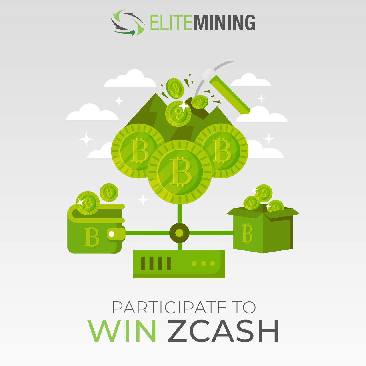 Win 2 Zcash (currently worth ~$140), GPU Miner, 3 ZEN, and 20 swag packs Giveaway Image