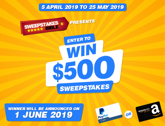 Win $500 Cash With Sweepstakes Bible! | Ends 5/25