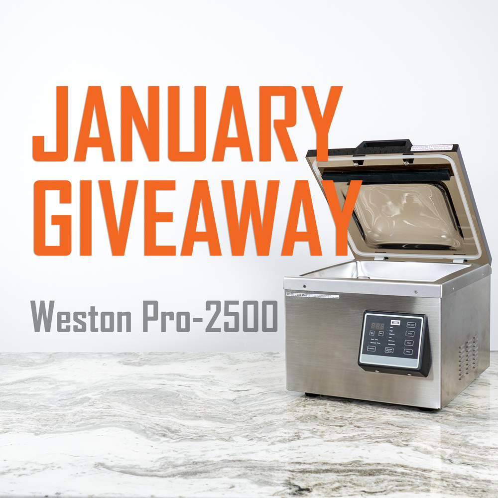 Win a Weston Pro 2500 Vacuum Sealer Giveaway Image