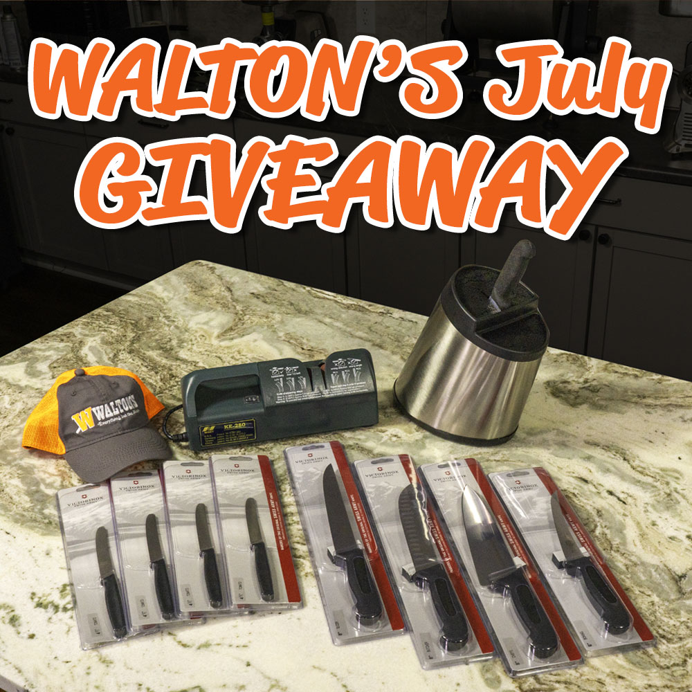 Walton's July 2021 Giveaway - Win a Pro Knife Set and Sharpener Giveaway Image