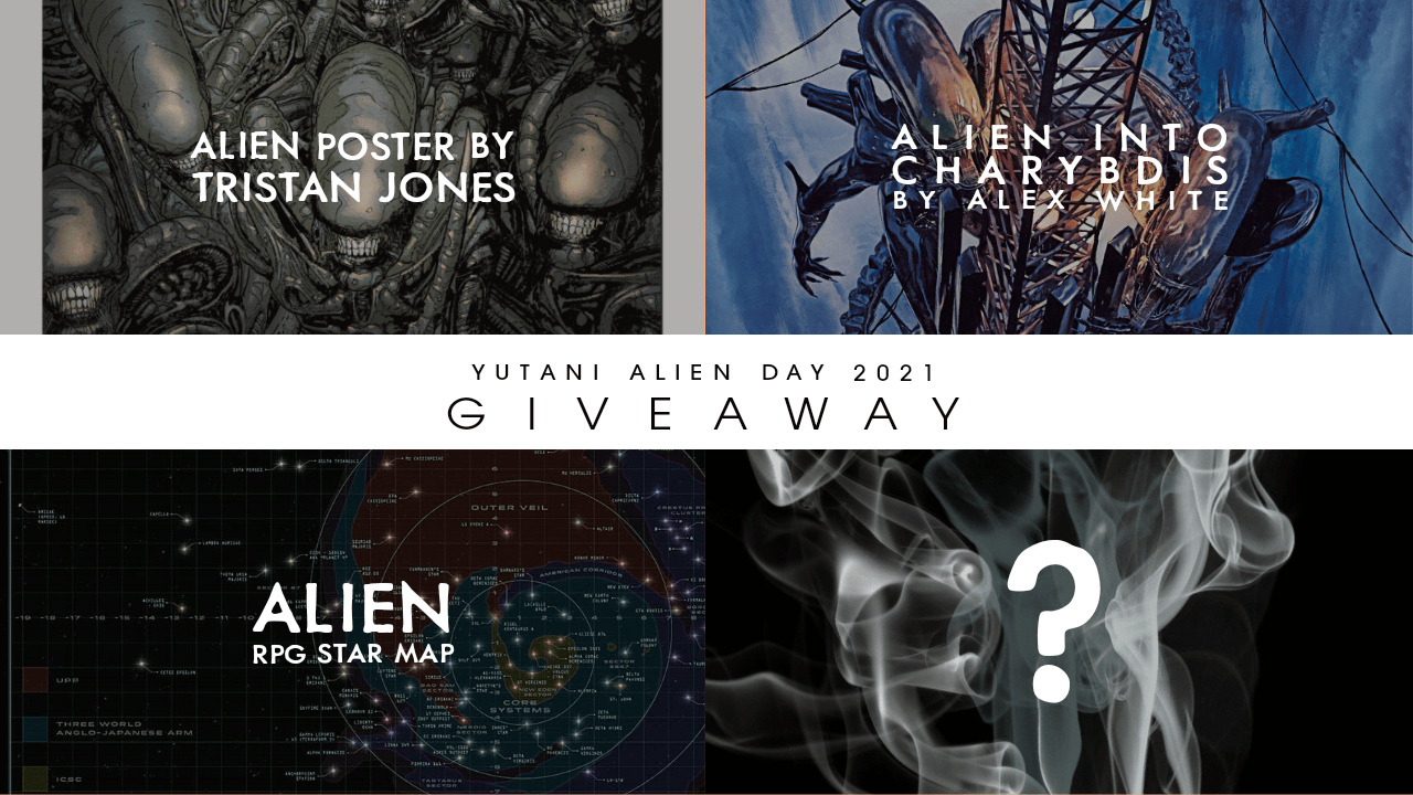 "Enter to win ""They're Coming Out Of The Walls"" by Tristan Jones A3 Poster, 1 of 2 Alien RPG Maps, OR 1 of 3 'Alien: Into Charybdis' novels in print. Giveaway Image"