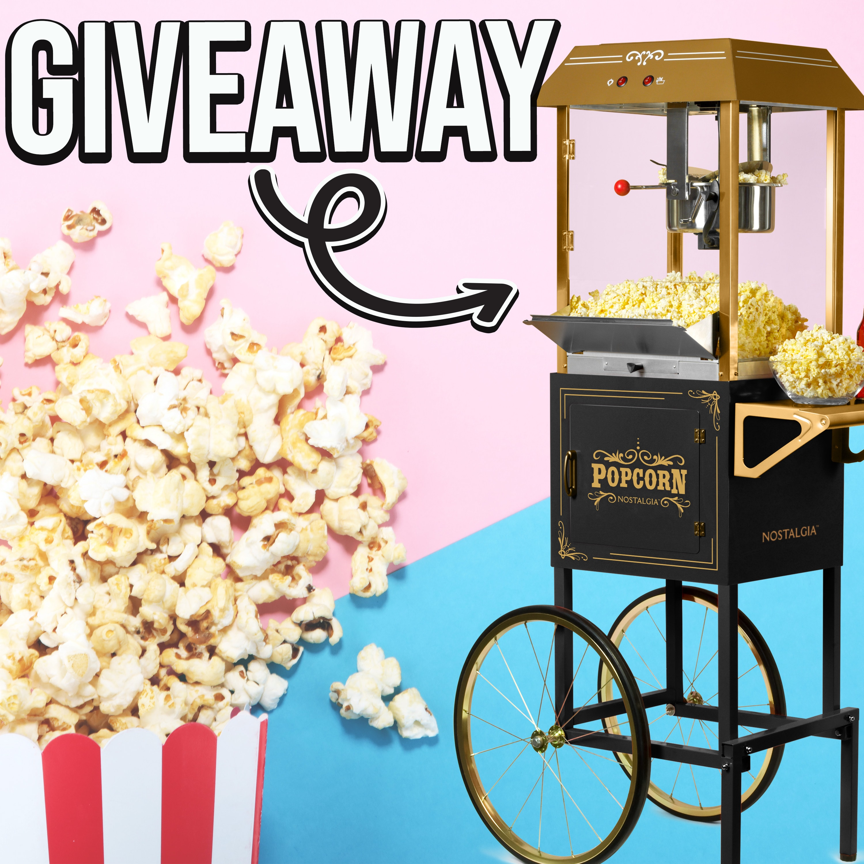 Nostalgia Popcorn Machine Giveaway (approximate retail value 299 USD) Giveaway Image