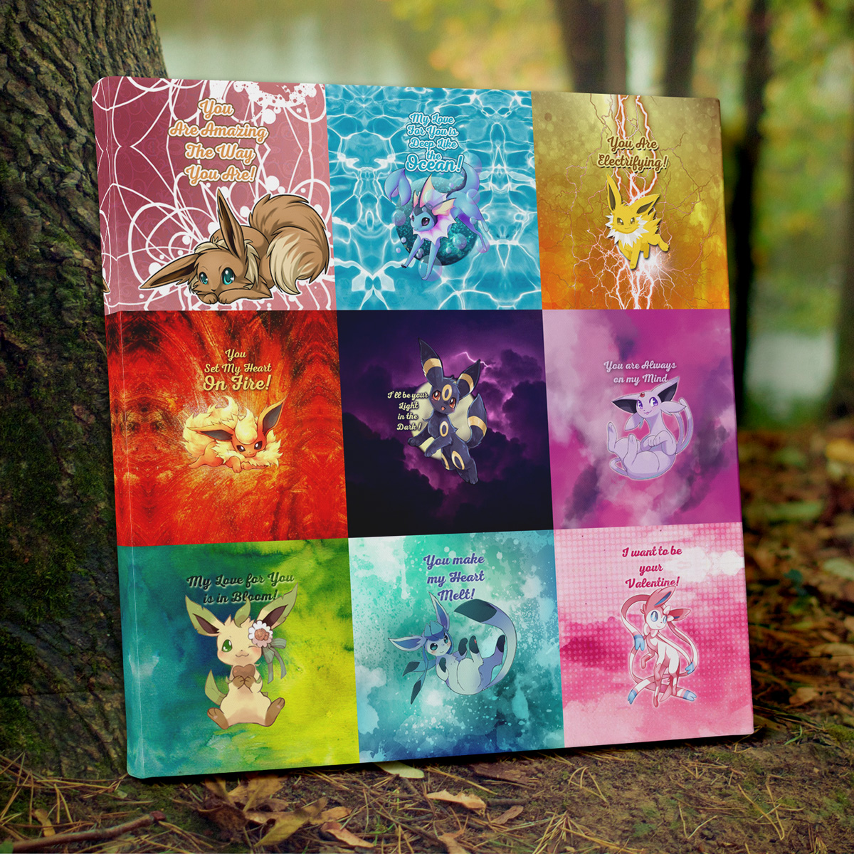 Enter for a chance to win Eeveelution Wall Art Canvas valued at $500 OR a $50 Anime Ape Gift Card OR a $20 Anime Ape Gift Card! Multiple Winners! Giveaway Image