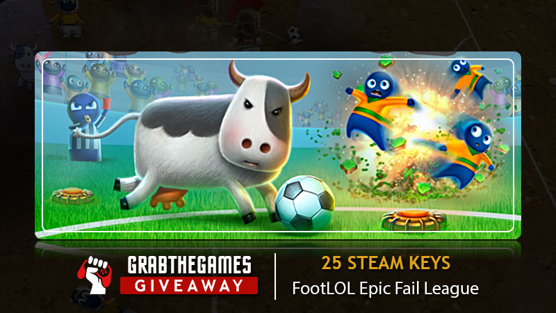 Enter for a chance to win 1 Out Of 25 FootLOL: Epic Fail League Steam Keys! Retails at $10 each! Giveaway Image