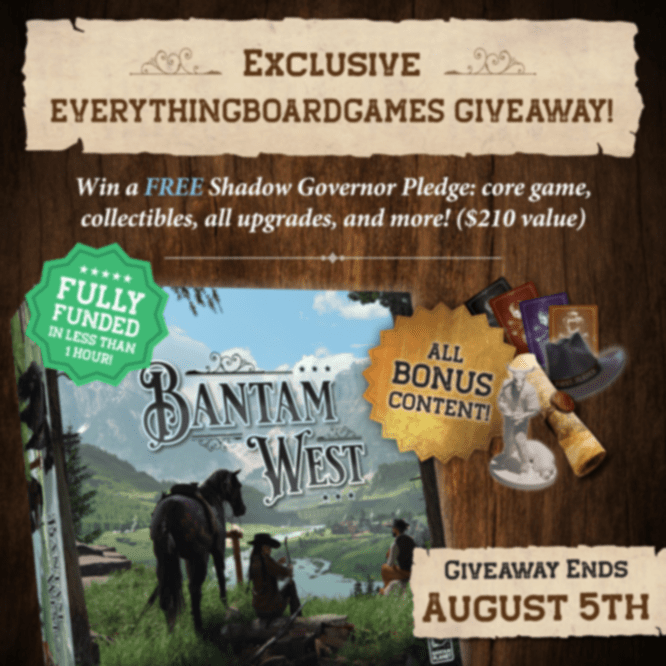 Win the board game Bantam West and a set of deluxe component upgrades Giveaway Image