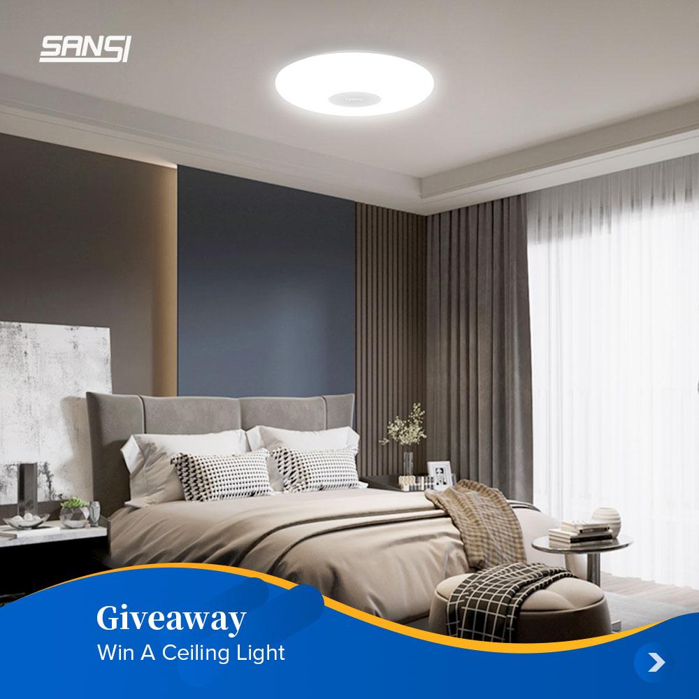 Enter to win a SANSI 12inch LED Ceiling Light! Giveaway Image