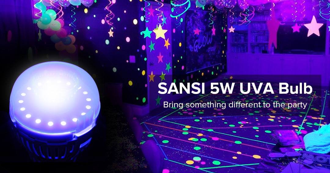 Enter for a chance to win 2 SANSI 5W UV Black Light Bulbs or discount coupons ranging from 30% and 50% Off! Giveaway Image