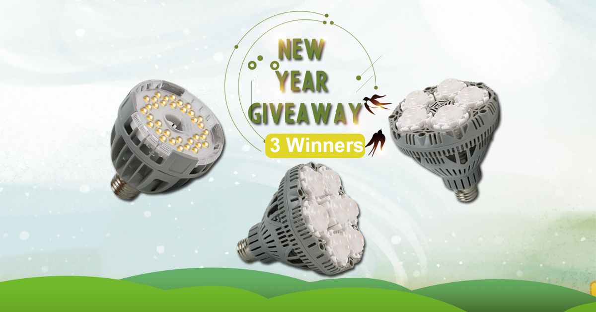 New Year Giveaway - Win $100 SGLEDs Plant Grow Lights - 3 Winners! Giveaway Image