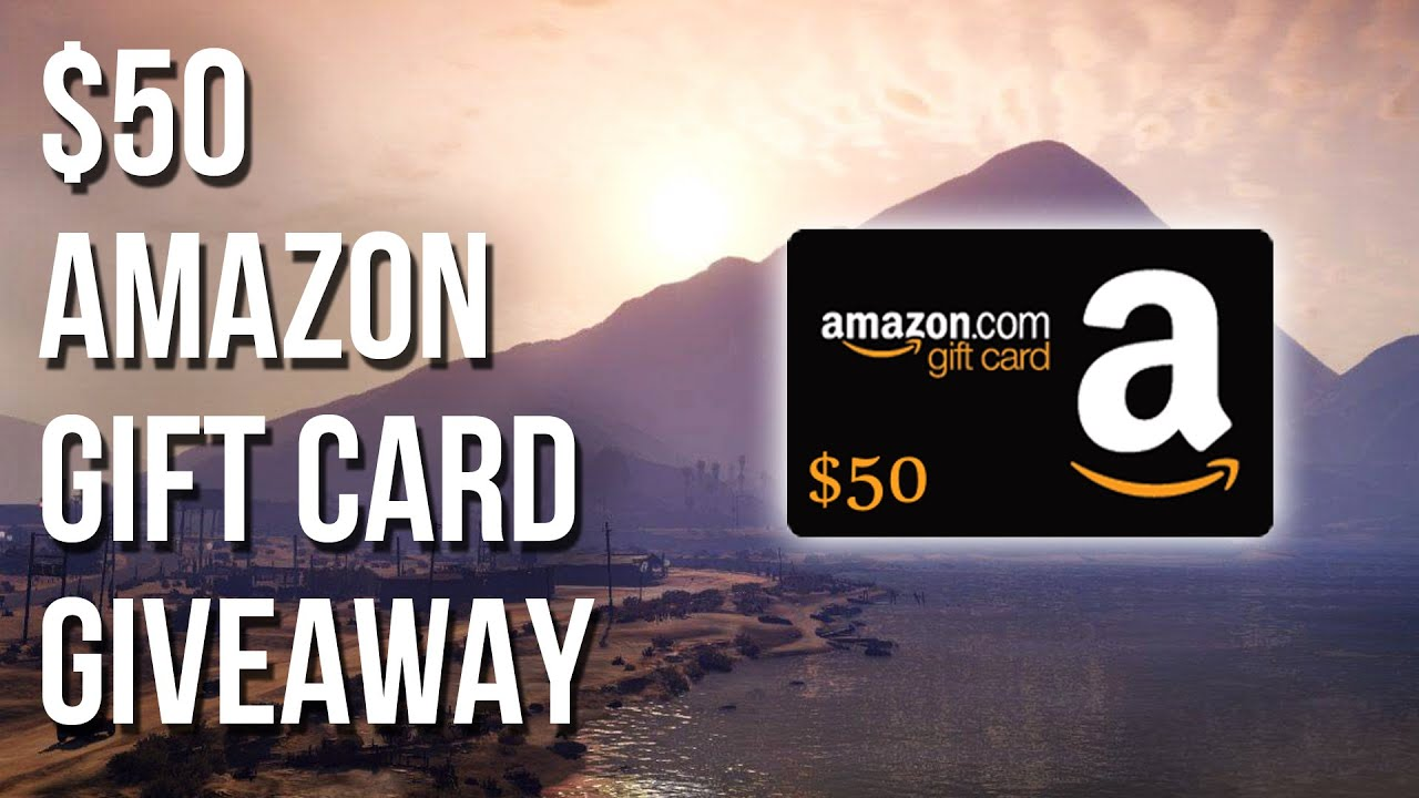 Amazon Gift Card $50 / £38 / �44 (International) Giveaway Image