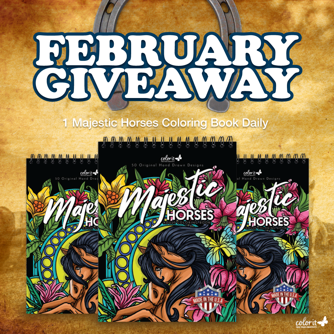 Color It February 2021 ~ Majestic Horses Giveaway Giveaway Image