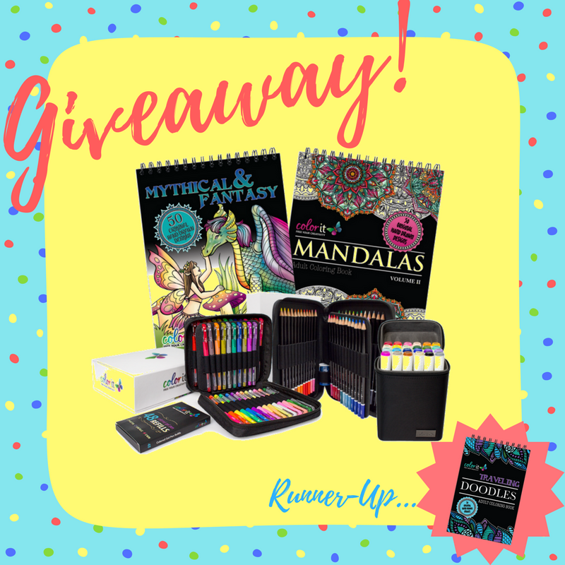 Grand Prize: The ColorIt Essentials Bundle - Runner-up: Traveling Doodles Coloring Book