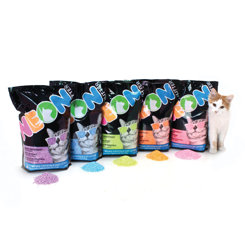 Enter to win a Kitty Litter Prize Pack containing 6 bags of litter from Neon Litter. 4 Winners! Giveaway Image