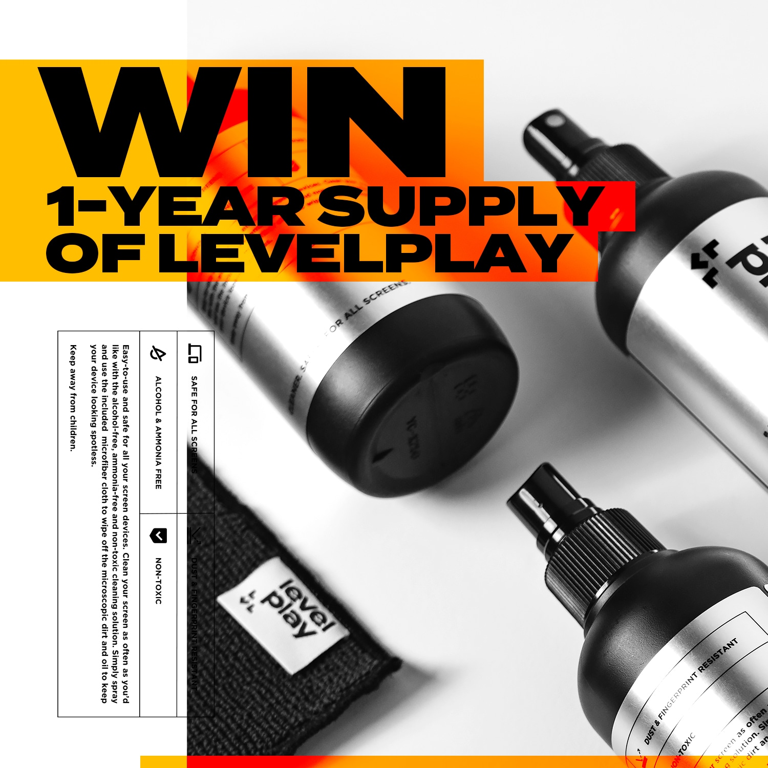 Win a 1-year supply of screen cleaner Giveaway Image